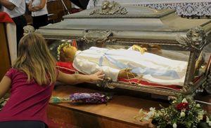 Le spoglie mortali della Santa nel Santuario della Madonna delle Grazie di Nettuno