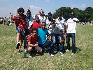 I ragazzi del Gruppo Umana Solidarietà ai Mondiali antirazzisti 2013 (Foto: Gruppo Umana Solidarietà).