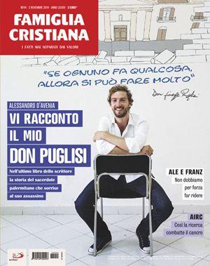 La copertina di Famiglia Cristiana n.44, in edicola e in parrocchia dal 30 ottobre, dedicata allo scrittore Alessandro D'Avenia.