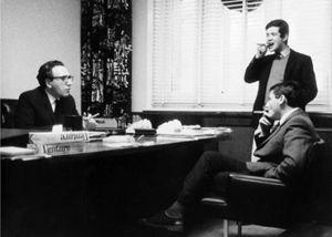 Mogol e Lucio Battisti negli studi Rca di Londra