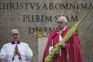 Roma, 13 aprile 2014. Papa Francesco presiede la celebrazione della Domenica delle Palme in Piazza San Pietro. Foto Ansa (la foto di coperrtina. invece, è dell'agenzia Reuters).