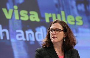 La svedese Cecilia Malmström, Commissario europeo agli affari interni