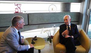 Shimon Peres, 91 anni, presidente dello Stato di Israele fino al luglio scorso e premio Nobel per la Pace nel 1994.