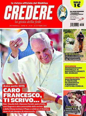 La copertina di Credere n. 43, rinnovato nella grafica e nei contenuti.