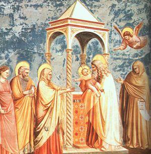 Giotto, Presentazione di Gesù al Tempio, Cappella degli Scrovegni, Padova
