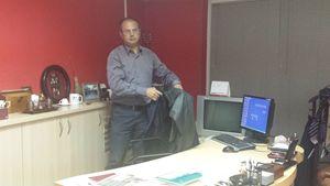 Sami Ozuslu, direttore e editorialista del Turkish Cypriot Daily (foto F. Speranza).