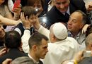 Pope Francis greets