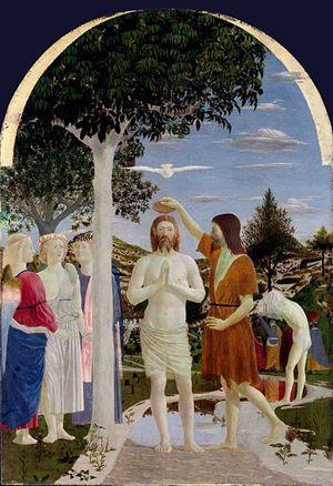 Piero della Francesca, Battesimo di Cristo, 1445