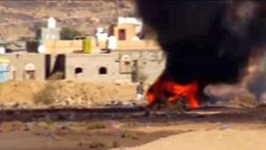 Un frame dal video di Hashim.
