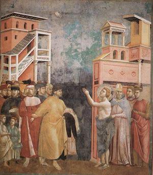 Giotto, San Francesco rinuncia ai beni terreni, Assisi, Basilica superiore