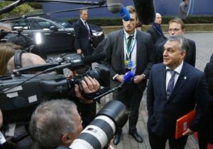 Il premier ungherese Viktor Orban. Tutte le fotografie di questo servizio sono dell'agenzia Reuters.