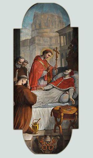 San Carlo assiste lo zio Pio IV sul letto di morte