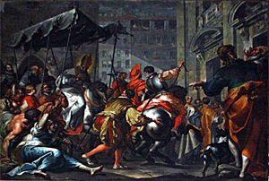 Il trionfale ingresso di San Carlo a Milano nel dipinto di Filippo Abbiati
