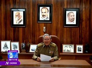 Raul Castro annuncia la morte del fratello Fidel