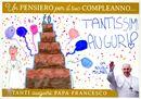 Papa Francesco, c'è una torta (di carta) per te!