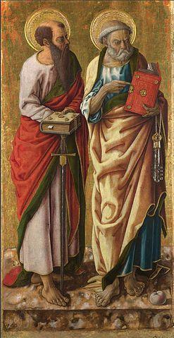 Carlo crivelli, Santi Pietro e Paolo, 87x44 cm, Londra, National Gallery