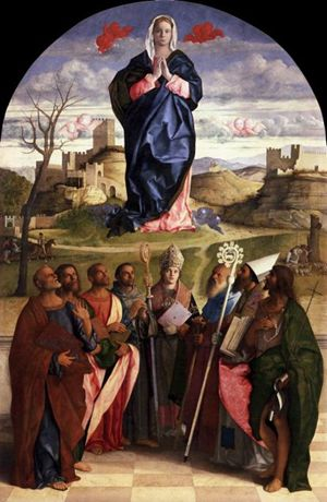 """Assunta in gloria"", esposta al Museo diocesano di Venezia."