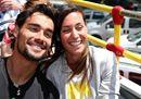 Un'immagine recente di Flavia Pennetta e Fabio Fognini, sposi domani (foto Ansa).