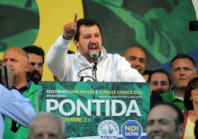 A Pontida il cattolicesimo ruspista di Matteo Salvini