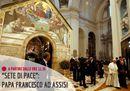 Papa Francesco ad Assisi  all'incontro interreligioso per la Pace