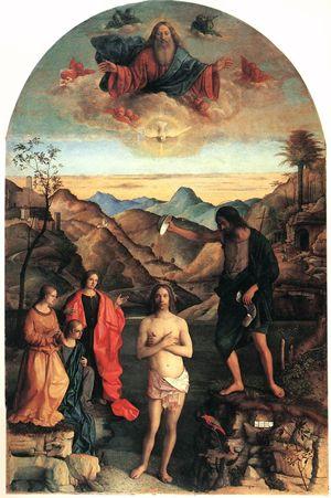 Battesimo di Cristo di Giovanni Bellini (1500-1502), chiesa di Santa Corona, Vicenza