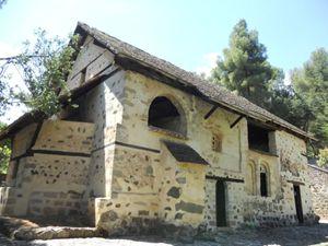 Chiesetta di San Nicola del Tetto a Kakopetria, Monti Troodos, Cipro.