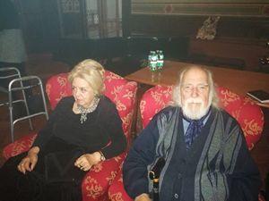 Casa Verdi, il baritono Claudio Giombi con la moglie Catherine