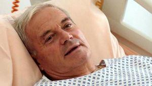 Gaetano Moscato durante la degenza in ospedale