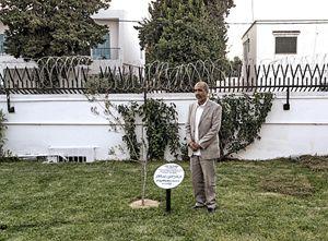 Hamadi ben Abdesslem, nel Giardino dei Giusti di Tunisi, l'unico del mondo arabo.