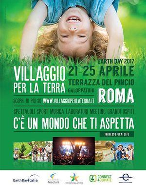 """Risultati immagini per Roma, dal 21 al 25 aprile al 25 aprile 2017:  """"Villaggio per la Terra,"""