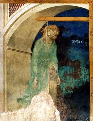 Giuda impiccato, Pietro Lorenzetti, Basilica inferiore, Assisi.