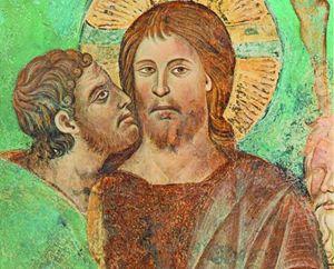 Il bacio di Giuda dipinto da Cimabue.
