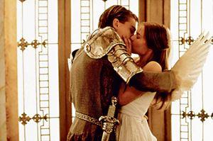 Leonardo di Caprio e Clare Danes in Romeo + Giulietta di Baz Luhrmann