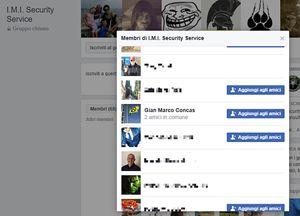 Gian Marco Concas risulta, nella pagina Facebook della IMI Security, come mebro della IMI stessa. La pagina in questione di FB è di un gruppo chiuso, non ci si può iscrivere liberamente, ma per esserne accettati occorre il consenso dell'amministratore del gruppo.