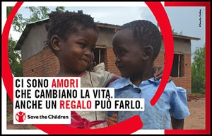 La locandina di Save The Children per San Valentino.