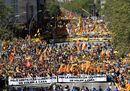 L'ondata indipendentista per le strade di Barcellona