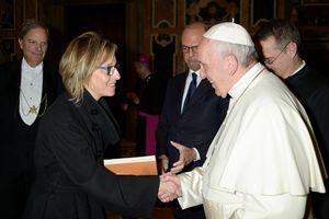Gioia Bartali con papa Francesco