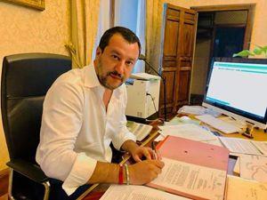 Il ministro degli Interni Matteo Salvini. In alto, il presidente dell'Inps Tito Boeri.