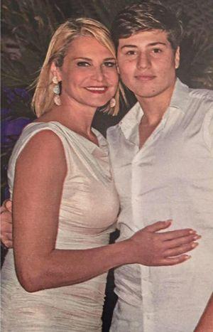 Simona Ventura con il figlio Niccolò Bettarini