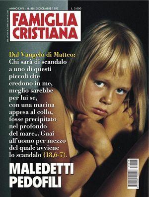 La copertina di Famiglia Cristiana del 3 dicembre 1997 contro i pedofili