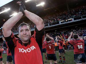 """Anthony Foley esultante al termine di un match del """"suo"""" Munster (2006, foto Reuters)"""