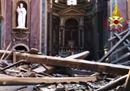 Chiesa di san Giuseppe dei falegnami a Roma, crolla il tetto