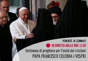 Il Papa apre la Settimana di preghiera per l'unità dei cristiani