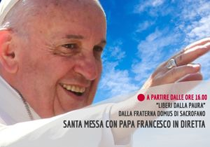 Diretta streaming: papa Francesco presiede la santa Messa dalla Fraterna Domus di Sacrofano