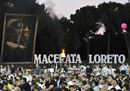 Macerata-Loreto, un'immagine dalla marcia 2017. Foto Ansa