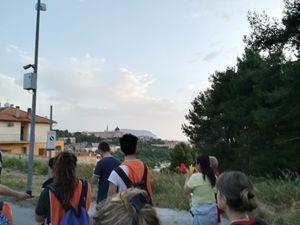 Così appariva Loreto alle prime luci dell'alba ai partecipanti, dopo 28 chilometri di cammino. La foto è stata scattata dal condirettore di Famiglia Cristiana Luciano Regolo, che ha partecipato alla marcia.